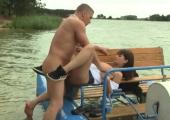 Outdoor Fick auf dem See